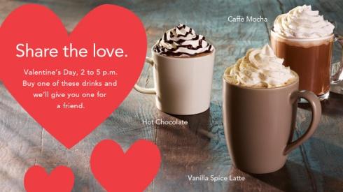 Starbucks BOGO Valentine's Day
