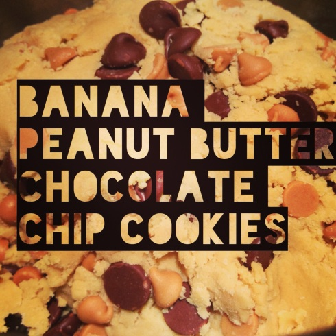 Banana Peanut Butter Chocolate Chip Cookies