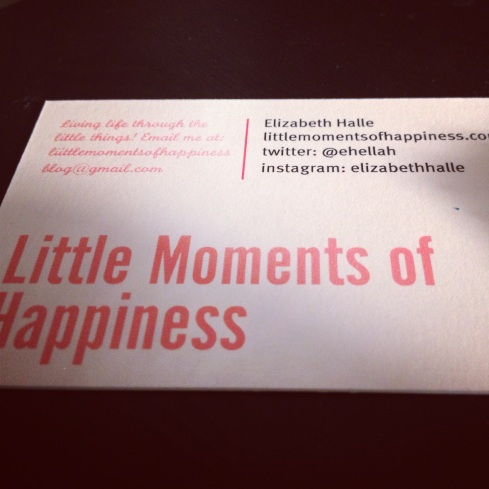 Little Moments of Happiness Blog