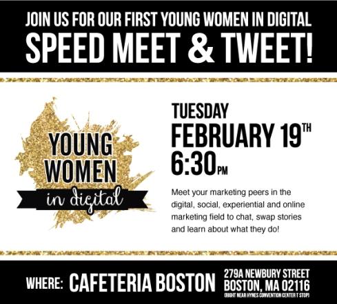 Speed Meet & Tweet - Young Women in Digital
