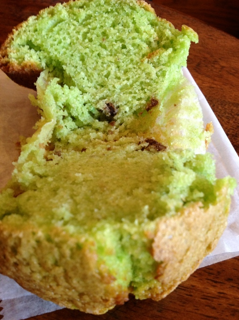 Pistachio Muffin at Green T Coffee Shop