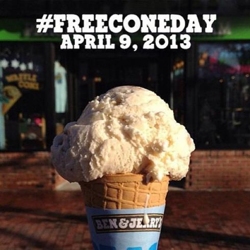 Free Scoop Day at Ben and Jerry's