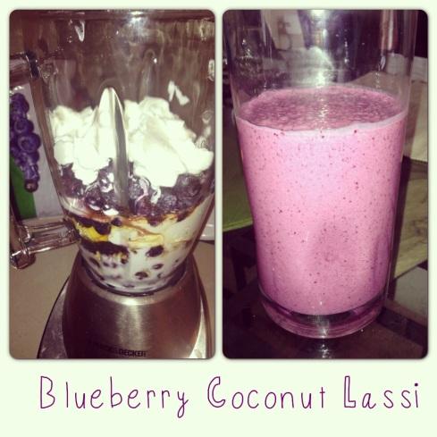 Blueberry Coconut Lassi