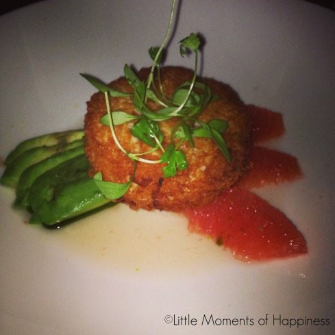 Crispy Crab Cake, with Avocado, Pink Grapefruit and Ginger at Nougatine Shanghai