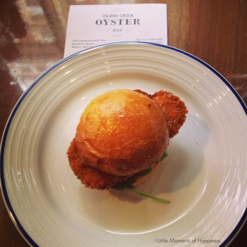 Crispy Oyster Slider at Island Creek Oyster Bar