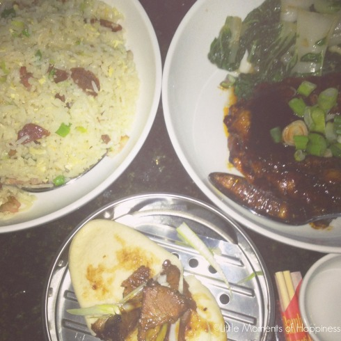 So much goodness [ Yueng Chow duck fried rice, the General's Florida Gator & char siu pork lotus bao]