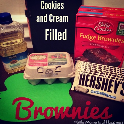 Cookies and Cream Filled Brownies Recipe