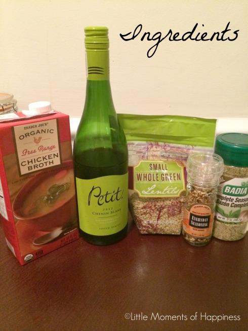 Lentil Recipe Ingredients
