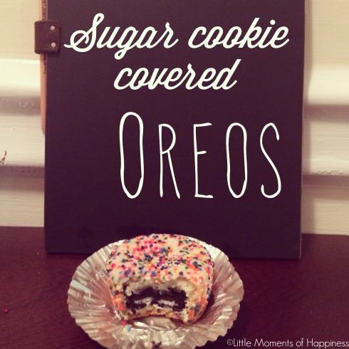 Sugar Cookie Covered Oreos