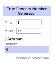 Winner of Chocolate Hollow Giveaway