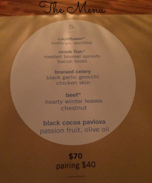 asta menu