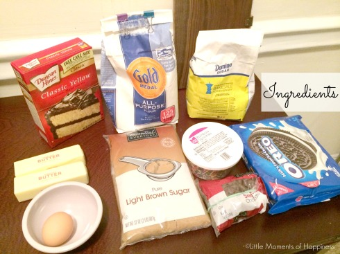 Cake Batter Oreo Cookie Ingredients
